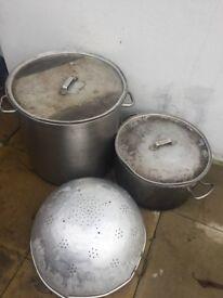 2 x Restaurant soup pot