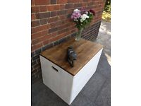 Extra large rustic storage trunk/chest/blanket box. Handmade/shabby chic. Local delivery.