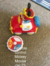 Mickey Mouse remote control toddler toy car