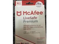 McAfee livesafe premium 1 year subscription