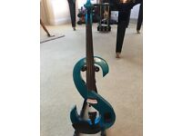 Bright blue, full size, electric violin. Rarely used and in perfect condition.