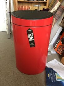 Brabantia Touch Bin - 40L - Passion Red - New