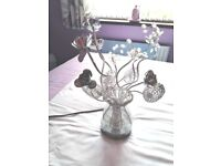Silver flower lamp