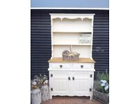 SOLID OAK-DRESSER-KITCHEN UNIT-WELSH DRESSER-SIDEBOARD-SHABBY CHIC-FARROW & BALL