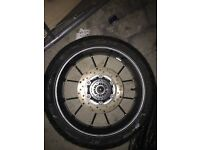 Yamaha r125 back wheel and tire