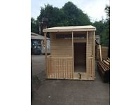 Timber/Wooden Playhouses For Sale 8ft Deep x 7ft Wide Made From Decorative Log