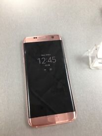 Samsung S7 Edge in pink gold 32g boxed