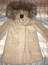 Ladies size 10 beige new look quality coat