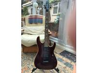 Shecter electric guitar, omen fr extreme, diamond series