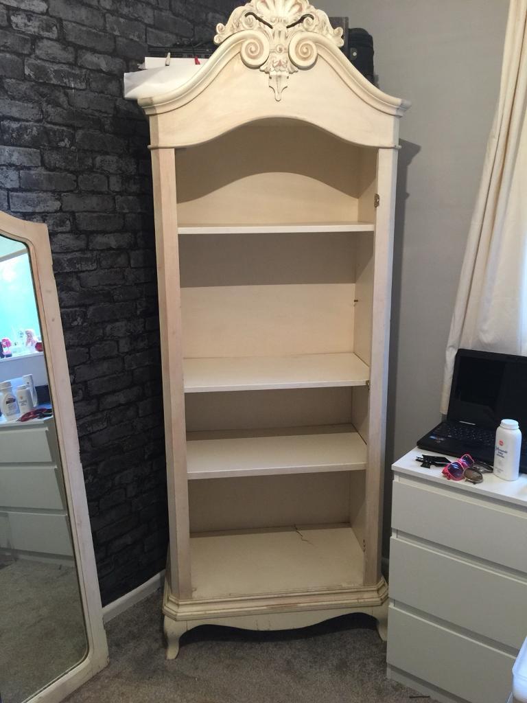 **CLEARANCE** vintage cream wood mirrors wardrobe