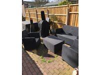 Rattan effect 4 piece garden furniture
