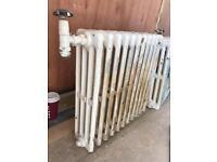 Two cast iron radiators