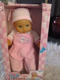 Baby doll (talks)brand new and boxed ideal present