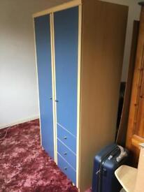 Blue great condition wardrobe