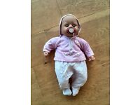Baby Annabell Doll, Cot, Travelling suitcase and Clothing Bundle.