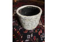 Anthropologie plant pot with stencilled details