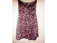 Size 10, Purple animal print boob tube style dress/top.