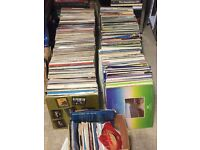 "Approx, 450 albums, singles and 12"" vinyl records. Assorted genres."