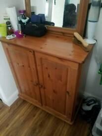 Pine cupboard table