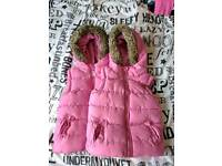 Padded pink body warmer size 3 yrs