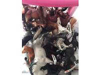 Large collection of toy horses