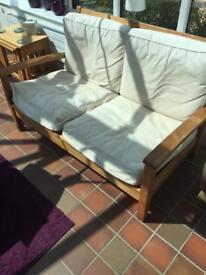 Neptune Teak Sun chairs and sofa