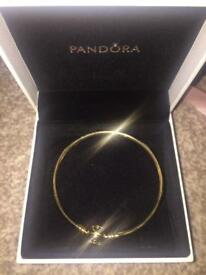 *NEW* 14ct gold 100% genuine MOMENTS pandora bangle