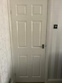 6 panel white interior door