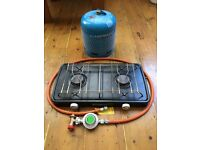 Camping Gas Cooker with bottle hose and regulator