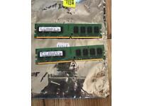 4 GIG OF PC MEMORY PC2-6400 2x 2GB