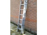 Ladders - Youngman 200 Three Section Ladders 1.92m - 3.95m