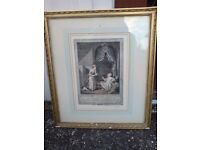 8 FRENCH 19th CENTURY HAND COLOURED PRINTS FRAMED & GLAZED