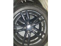 4 x Black Alloy wheels with Verdestein winter tyres - 225/60 R17 - suit BMW X3 or 3 Series