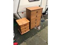 Free bedside cabinet and draws GONE PENDING COLLECTION