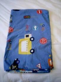 Vehicle cotbed/toddler bed divet cover set