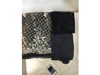 New ladies Black Pakistani embroided net suit