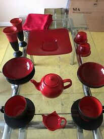 Red and Black kitchen items bundle