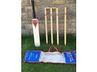 Mitre classic wood cricket set .