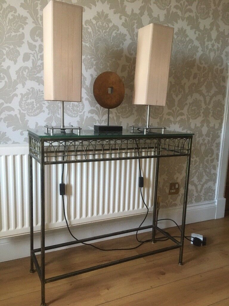 Lovely Consul Tables With Glass Top. Must Go This Week-End