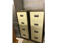 2 Large Office Filing Cabinets (with locking mechanism)