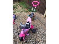 Kids trike in pink
