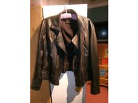 Real leather Oasis jacket large
