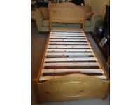 Fabulous Wooden Single Bed with 2 draw storage