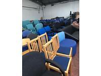 Blue & Beech Chairs