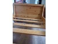 Single sleigh bed in good condition