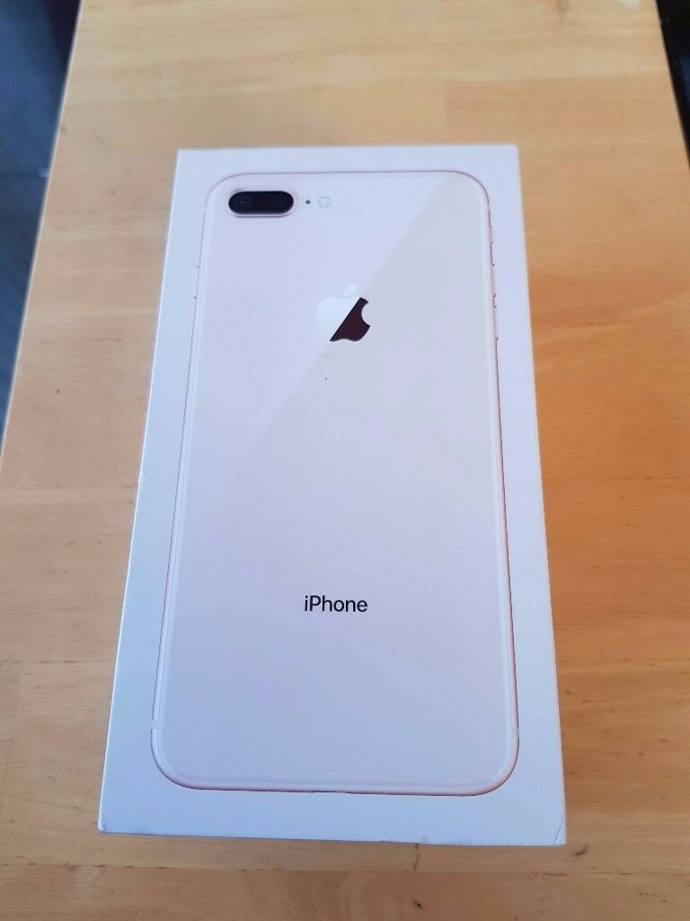 apple iphone 8+ on o2/giffgaff/tesco 256gb in gold