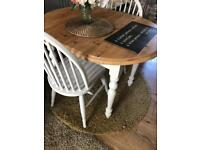 Small farmhouse table and chairs in farrow & ball