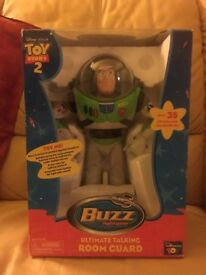 Toy Story 2 Buzz Lightyear Ultimate Talking Room Guard 12""