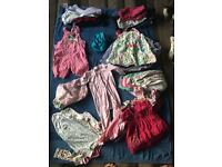 9-12 months baby girl clothes bundle