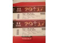 WALES V NEW ZEALAND RUGBY INTERNATIONAL TICKETS